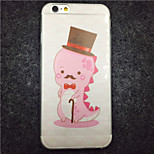 MAYCARI® The Little Pink Gentle Monster Transparent Soft TPU Back Case for iPhone 6/iphone 6S