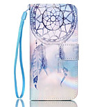 Campanula Pattern PU Leather Phone Case for iPhone 6/6S
