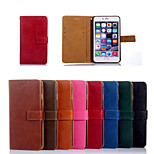 Classic Oil Leather Combo PU Leather Full Body Cases Cover with Card Slot and Stand for iPhone 6 (4.7Inch)