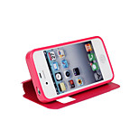 PU Open the Window Mobile phone Holster for iPhone 4/4S Assorted Color