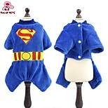 FUN OF PETS® Fashionable Superman Fleece Costume Coat with Hoodie for Pets Dogs(Assorted Sizes and Colours)