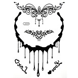 BlackLace Henna Body Temporary Sexy Tattoos Sticker For Women,Teens,Girls(5 Patterns in 1 Sheet) J009
