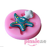 Starfish  Fondant Cake Cake Chocolate Silicone Molds,Decoration Tools Bakeware