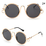 Sunglasses Women's Modern / Fashion Round Silver / Gold / Pink / Red Sunglasses Full-Rim