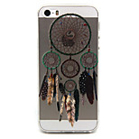 Color Dreamcatcher  Pattern TPU Relief Back Cover Case for iPhone 5/iPhone 5S