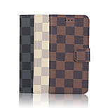 5.5 Inch Grid Pattern High Quality Luxury PU Wallet Leather Case for iPhone 6S Plus(Assorted Colors)