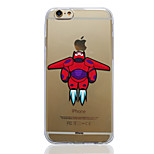 Disney Big Hero 6 Baymax Transparent TPU Soft Back Cover for iPhone 6/6S