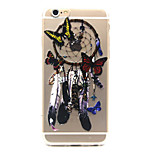 Butterfly dream catcher Pattern TPU Relief Back Cover Case for iPhone 6/iPhone 6S