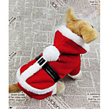 Beautiful Christmas Pet Apparel  Hoodier For Dogs / Cats