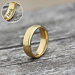 Personalized Gift Jewelry Golden Stainless Steel Engraved Rings