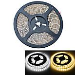 YouOkLight 5 M 300 3528 SMD Blanco cálido / Blanco A Prueba de Agua / Cortable / Adecuadas para Vehículos / Auto-Adhesivas 25 WTiras LED