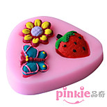 Strawberry Butterfly Flower  Fondant Cake Cake Chocolate Silicone Molds,Decoration Tools Bakeware