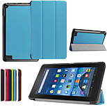 Dengpin PU Leather Tablet Protective Case Cover With Stand for Amazon fire HD 7 2015(Assorted Colors)