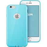 ESR® yippee color de la serie alc perfecta caso ultra fino ajuste suave del tpu para el iphone 6 / 6s -sky azul
