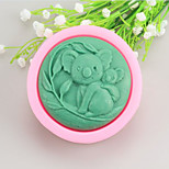 Koalas Shaped  Soap Molds Mooncake Mould Fondant Cake Chocolate Silicone Mold, Decoration Tools Bakeware