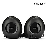 Pisen Mini Snail Speaker Standard Wired 3.5mm Amplifier Loudspeaker for PC, MP3 Player and More Black