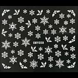 3D Christmas Snowflake Leaf Nail Art Stickers
