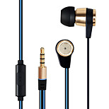 Naeny® M6 In–Ear Phones Noise Cancelling Stereo Metal Headphones Earbuds for iPhone6/6S/iPad and Android devices