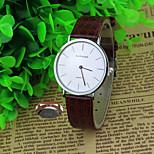 Personalized Gift Minimalist Fashion Lady Leather Rhinestone  Watch