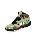 Men's Basketball Shoes Suede / Tulle Black / Green / White