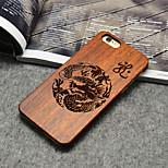 bois coque iphone loong dragon chinois culture orientale couverture arrière dur pour iPhone 6 / 6s