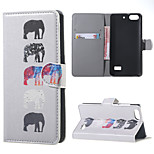 Several Elephants Leather Wallet Flip Stand Case cover For Huawei Honor 4C Mobile Phone Cases Covers