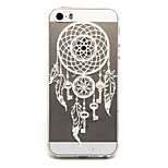 Pendant Campanula Pattern TPU Relief Back Cover Case for iPhone 5/iPhone 5S