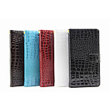 Crocodile PU Leather Belt Around Open Wallet Holster Bracket for Sony Z5 (Assorted Colors)