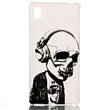 crâne écouteurs TPU Pttern couverture souple pour Sony m4