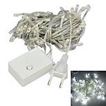 JIAWEN® 10M 4W 100-LED 8-Mode White Light Christmas Decoration String Lights (EU Plug , AC 220V)