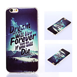 Dream of Philosophy Cool Word Style TPU Soft Back Case Cover for iphone6/6S