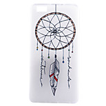 Dreamcatcher Pattern TPU Material Thin Transparent Soft Phone Case for Huawei P8 Lite