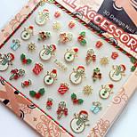 3D Gilding Christmas Series Snowman Nail Art Stickers