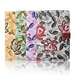 Caso de cuero billetera patrón de bordado lienzo 7,9 pulgadas con soporte para mini ipad 4 (colores surtidos)