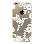 White bird  Pattern TPU Relief Back Cover Case for iPhone 6/iPhone 6S
