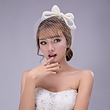White  Bowknot Lace Headband for Party