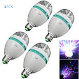 Luces LED de Escenario Decorativa YouOKLight A80 E26/E27 3 W 3 LED de Alta Potencia 300 LM RGB AC 85-265 V 4 piezas