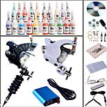 Tattoo Machine Complete Kit Set 2 s Machines 20PCS tattoo ink Tattoo kits