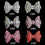 10pcs  Bowknot  Fashion  Finger Nail Jewelry Alloy/Crystal Skeleton  Nail Stickers