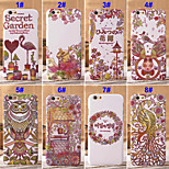 Fashion Secret Garden Pattern TPU+Plastic Mobile Phone Back Cover Hard Cases for iPhone 5/5S
