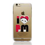 Disney Big Hero 6 Baymax I Love BM Transparent TPU Soft Back Cover for iPhone 6/6S