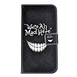 Smiling Teeth Design PU Leather Full Body Case with Stand and Card Slot for Nokia Lumia N730