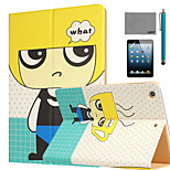 LEXY® Blond Boy Pattern PU Leather Flip Stand Case with Screen Protector and Stylus for iPad Mini 1/2/3