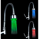 RGB Color Temperature Control Universal Adapter LED Kitchen Sink Faucet Nozzl (Water Temperature Change)