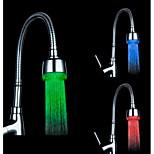rgb färg temperaturkontroll universaladapter ledde diskbänk blandare nozzl (vatten temperaturförändring)