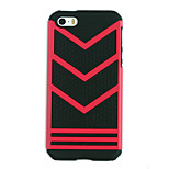 Double Color 2 in 1 All edge fully enclosed TPU + PC Armor  Case for iPhone 5/5S