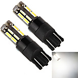 YOBO T10 18SMD 4014 5W 400LM White Light LED Bulb for Car Signal Lamps (2-Pack, DC 12V)
