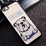 White Dog Pattern TPU and PC Material Combo Phone Case for iPhone 6/6S