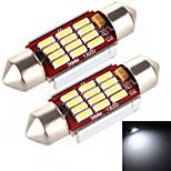 Yobo 5w 400lm festone 36 millimetri 12 * 4014 SMD ha condotto la luce bianca per lampadina dell'automobile sterzo / lampada di lettura -