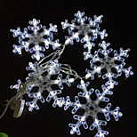 Christmas Decoration White Transparent Little Snowflake LED String Lights, with AC220V Voltage Input 2.5 Meter a Set